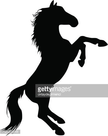 Horse Silhouette Vector Art.