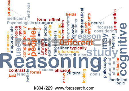 Stock Illustration of Cognitive reasoning background concept.