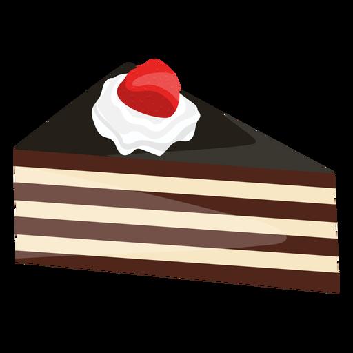 Rebanada de pastel de triángulo con fresa.