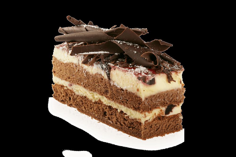 Rebanada de Pastel Chocolate PNG transparente.