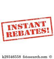 Rebates Clip Art Illustrations. 50 rebates clipart EPS vector.