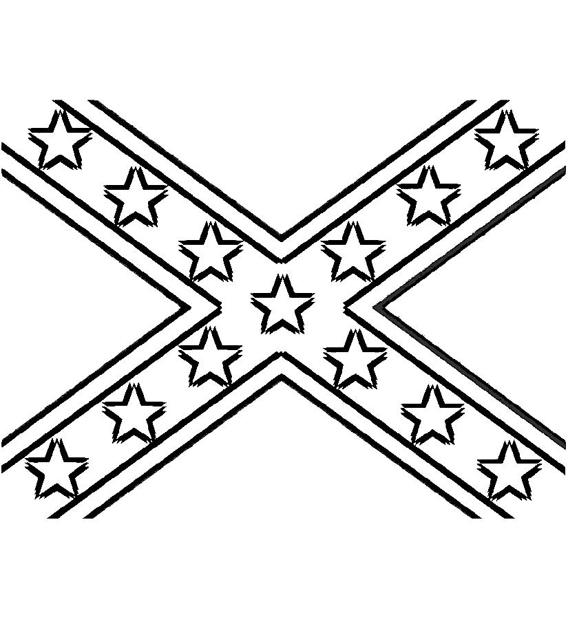 Rebel flag clip art.