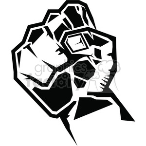 fist clipart. Royalty.