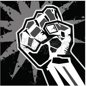 fist rebellion uprising insurrection illustration art black clipart.  Royalty.