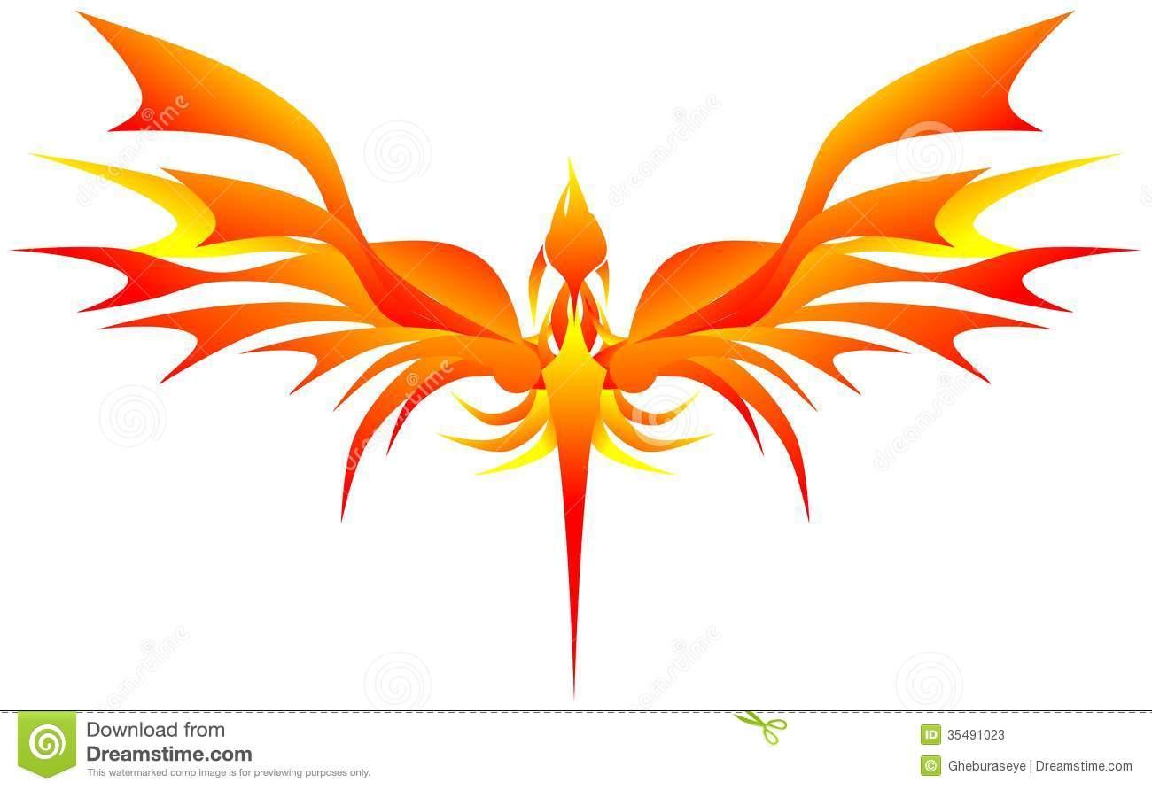 Phoenix Reborn Stock Vector.