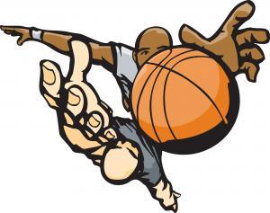 Basketball Rebound Clipart.