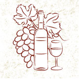 Wineglass Stock Illustrations.