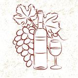 Wineglass Stock Illustrations.