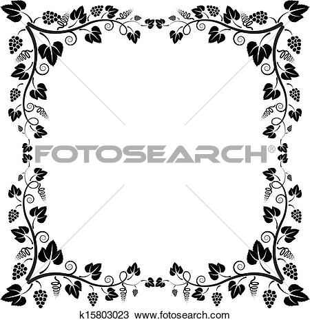 Clipart of frame vine k15803023.