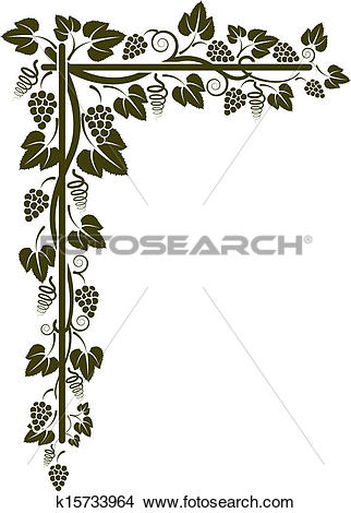 Clipart of corner of the vine silhouette k15733964.