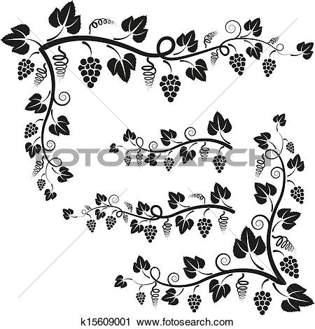 Clipart of corners vine k15609001.