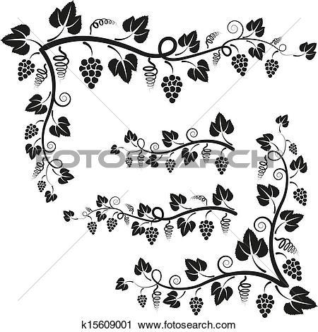 Clipart of corners vine k15609001.