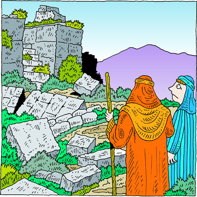 Image: Let him go up to Jerusalem which is in Judah and rebuild.