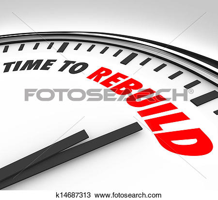 Stock Photo of Time to Rebuild Clock Start New Redo Overhaul Fresh.