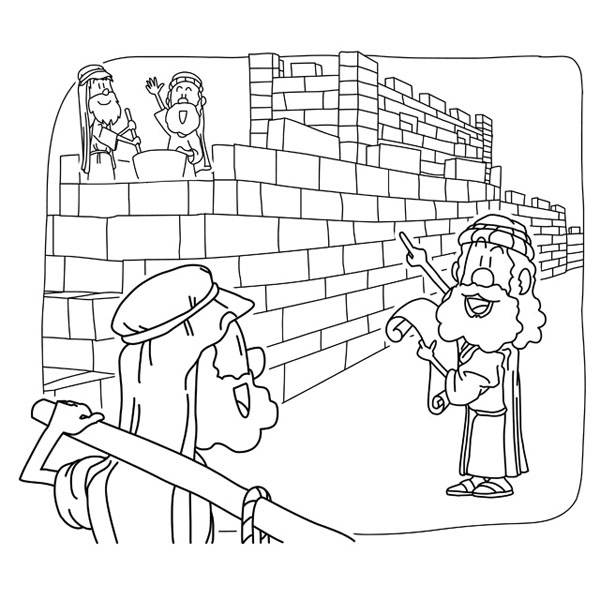 Christian clipArts.net _ Nehemiah rebuilt the Jerusalem's Walls.