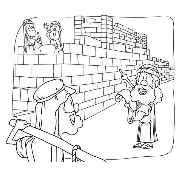Christian clipArts.net _ Nehemiah rebuilt the Jerusalem's Walls.
