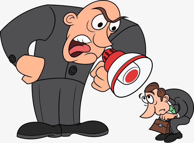 Boss clipart reprimand, Boss reprimand Transparent FREE for.