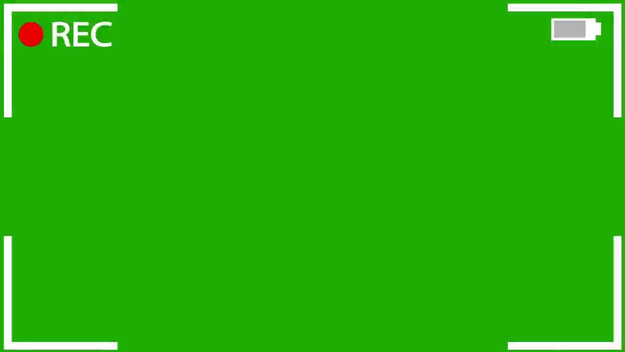 Camera Recording Green Screen Effect ( Rec efeito para chroma key ) #1.