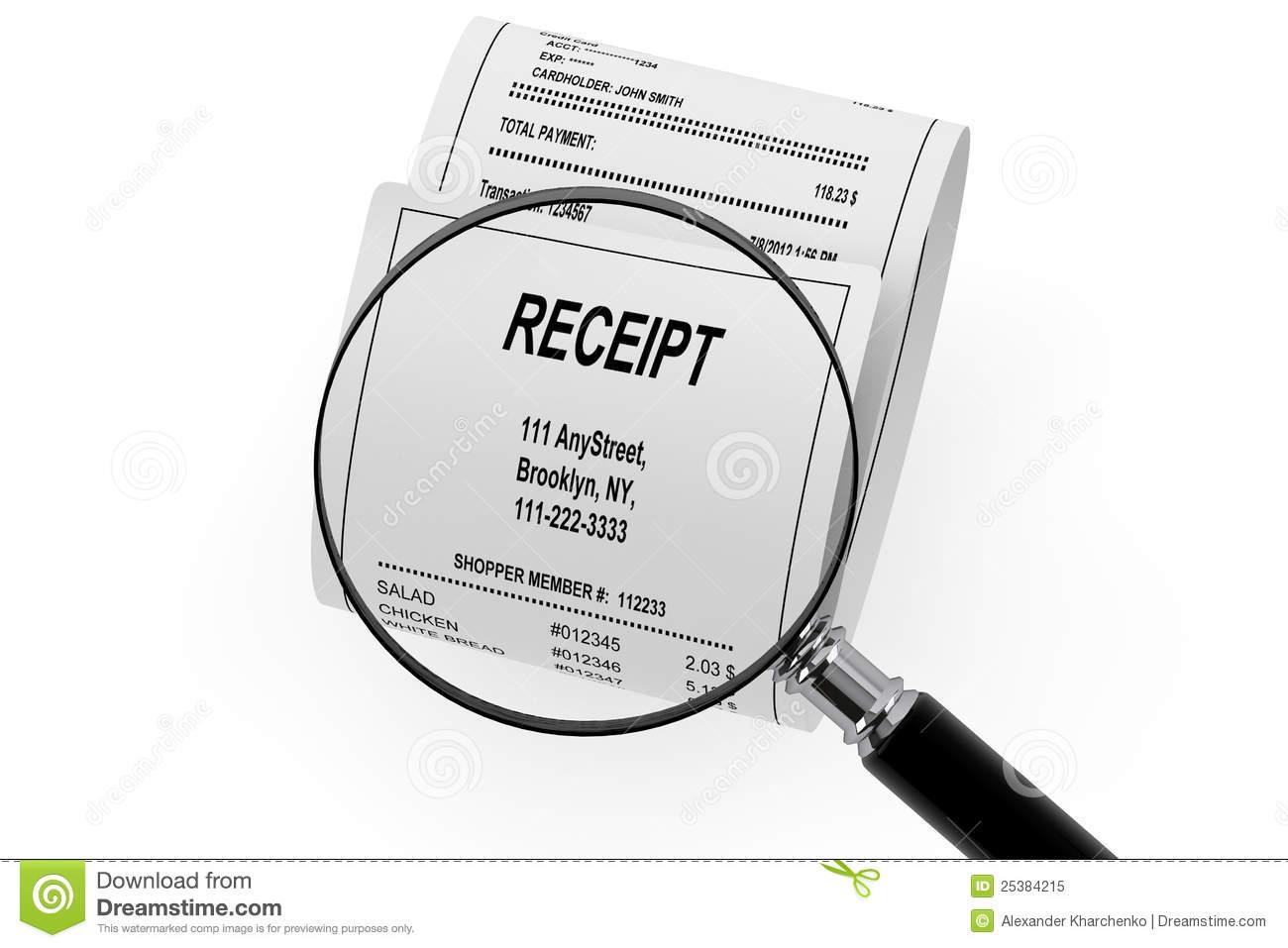 Clipart receipt.
