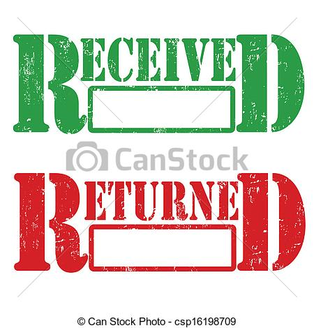 Vector Clipart of Received and returned stamp.