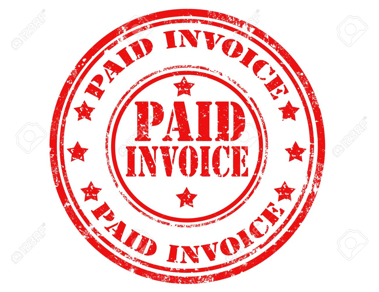 Paid Stamp Clipart.