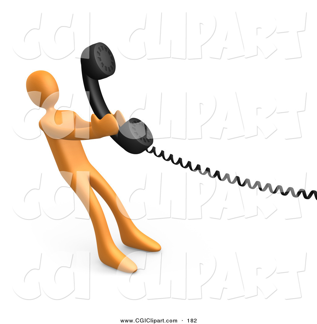 Phone receiver clip art.