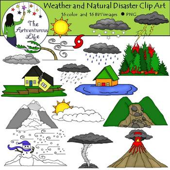 Weather and Natural Disasters Clip Art.