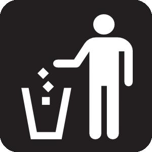 Litter Receptacle Black Clip Art at Clker.com.