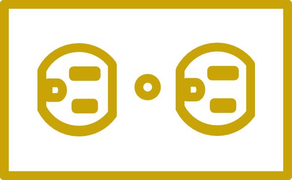 Gold Receptacle Clip Art at Clker.com.