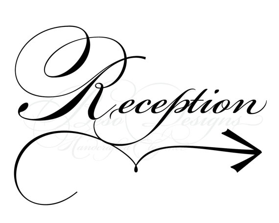 Wedding reception clip art.