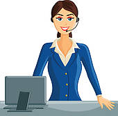 Receptionist Clip Art and Illustration. 3,649 receptionist clipart.