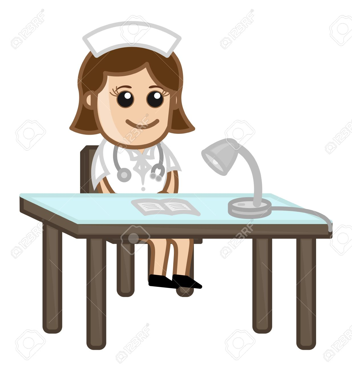 Doctor receptionist clipart.