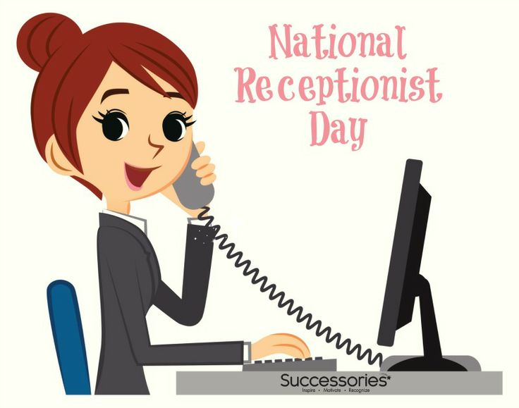 Receptionist Clipart.
