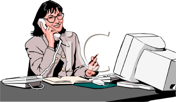 Office receptionist clipart.
