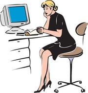 Receptionist Clip Art, Vector Receptionist.