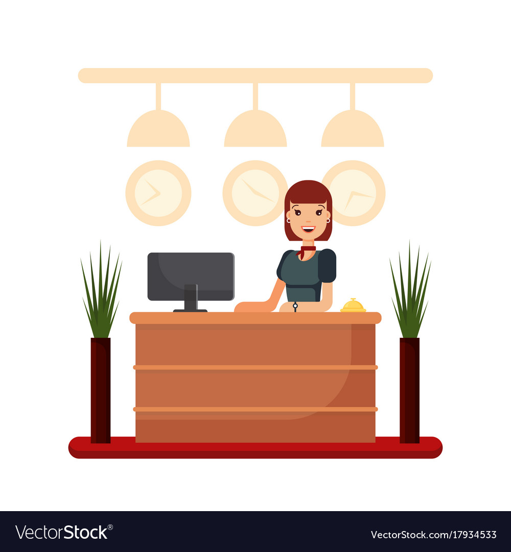 Hotel Reception Desk Clipart.