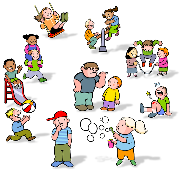 Kids Playing At Recess Clipart.