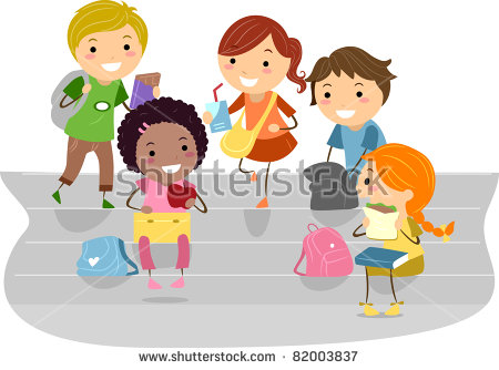 School Recess Stock Images, Royalty.