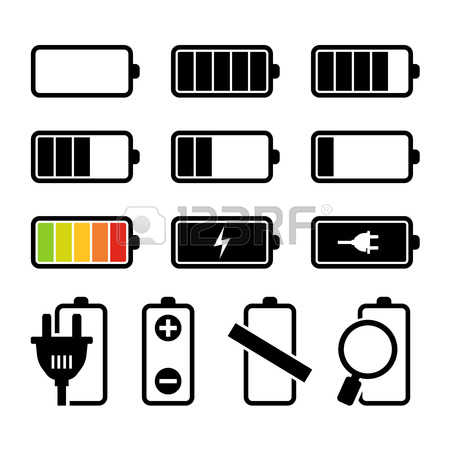 Rechargeable battery clipart #9