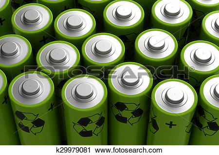 Clipart of Rechargeable Battery k29979081.