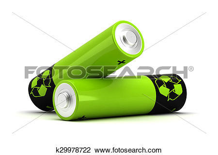 Clip Art of Rechargeable Battery k29978722.