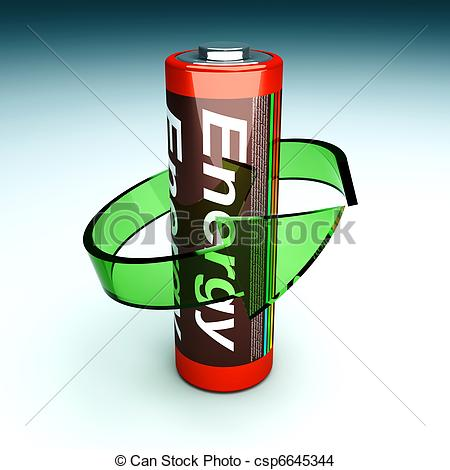 Drawing of Rechargeable Battery.
