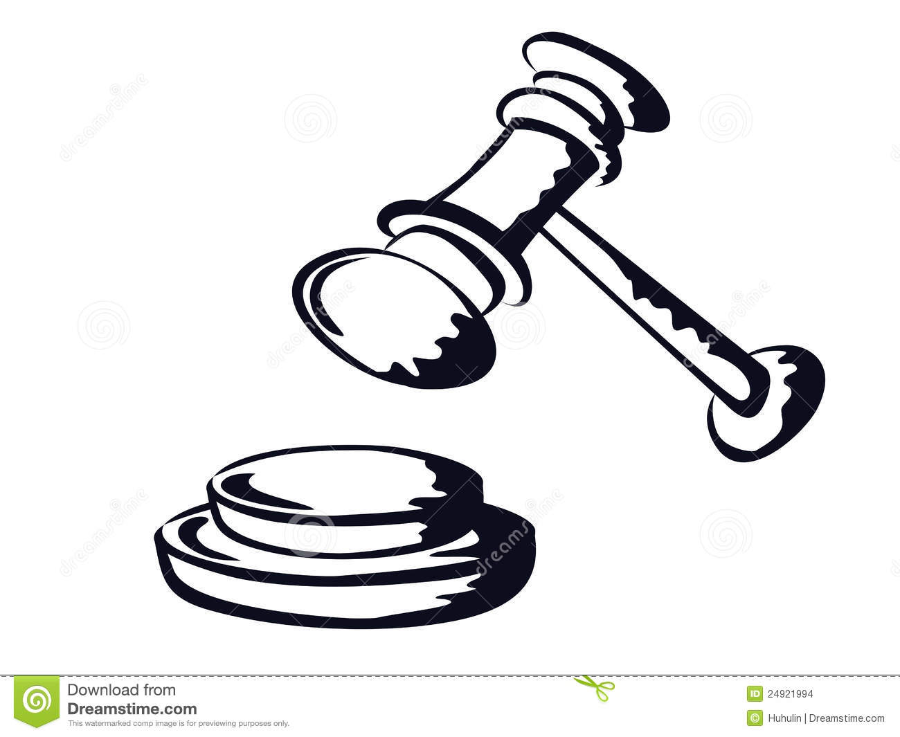 Judge Gavel,sketch Shape,vector From Stock Images.