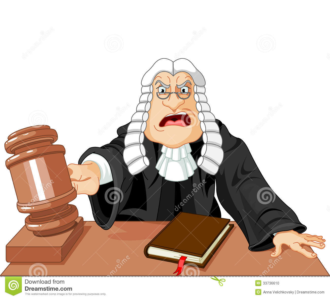 Judge With Gavel Stock Photo.