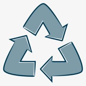 Simbolo Reciclaje Azul Png, Transparent Png.