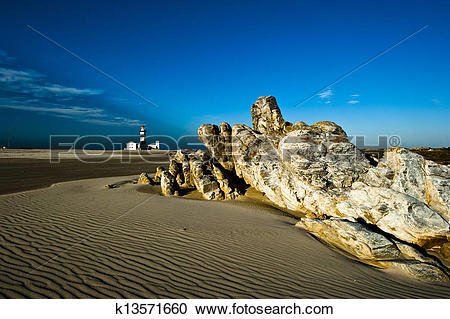 Stock Photography of Lighthouse Cape Recife/South Africa k13571660.