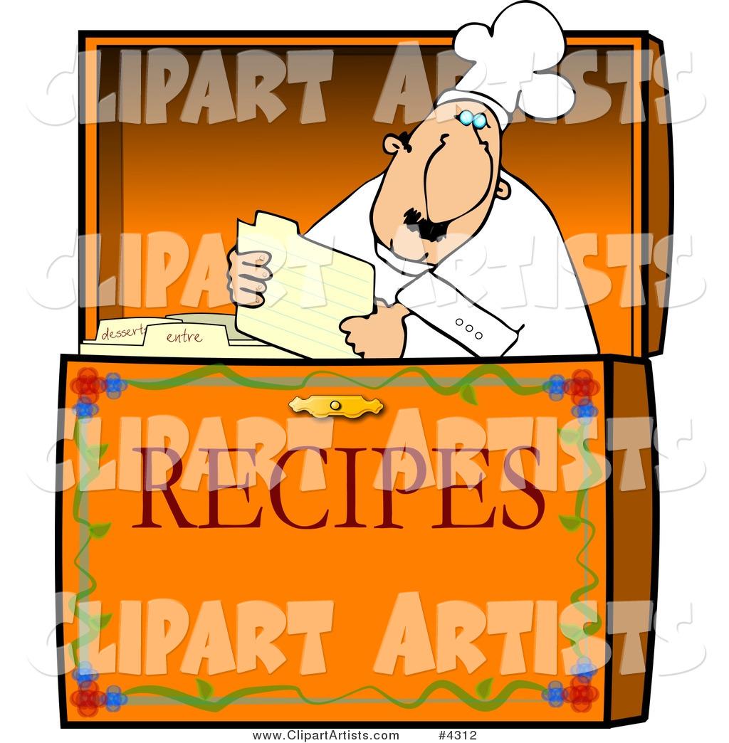 Food Recipe Box Clipart by Dennis Cox (djart).