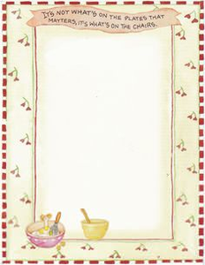 Country Clipart Recipe Cards.