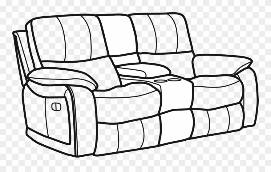 Woodstock Fabric Power Reclining Loveseat With Console.