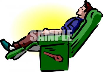 Free clipart man in recliner.